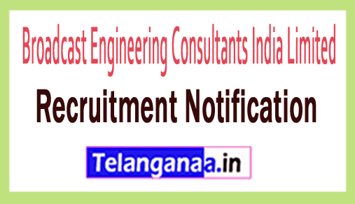 Broadcast Engineering Consultants India Limited BECIL Recruitment Notification