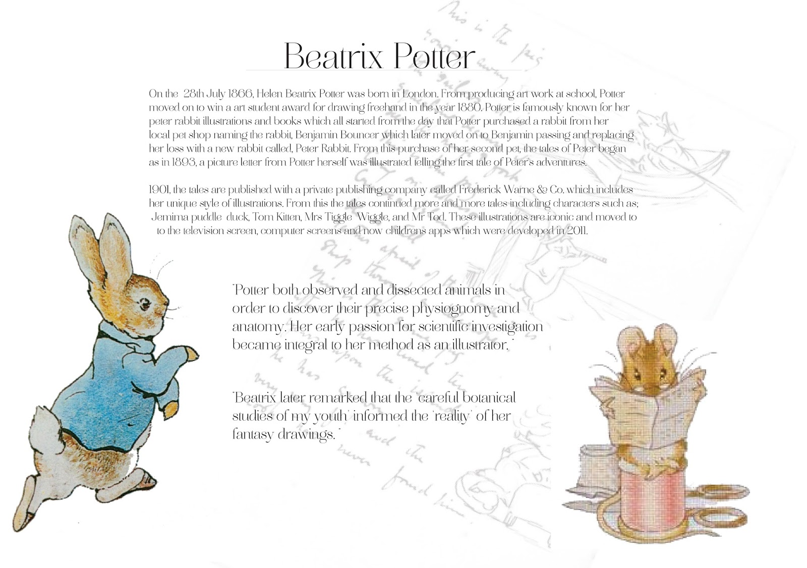 PAGE 2-SuccessSprinters: BEATRIX POTTER + LEWIS CARROLL - ENGLAND