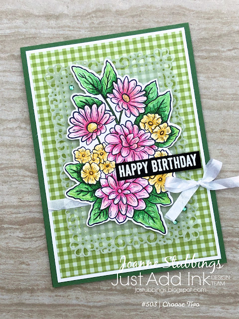 Jo's Stamping Spot - Just Add Ink Challenge #503 using Ornate Garden stamp set and Ornate Layers dies by Stampin' Up!