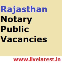 Rajasthan Law Department Notary Public Vacancies
