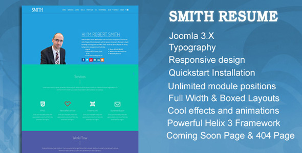 template-joomla-3-smith-resume