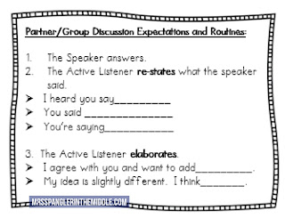 Discussion Expectations & Routines for Middle School with Sentence Starters!  #teaching #discussions #groupwork