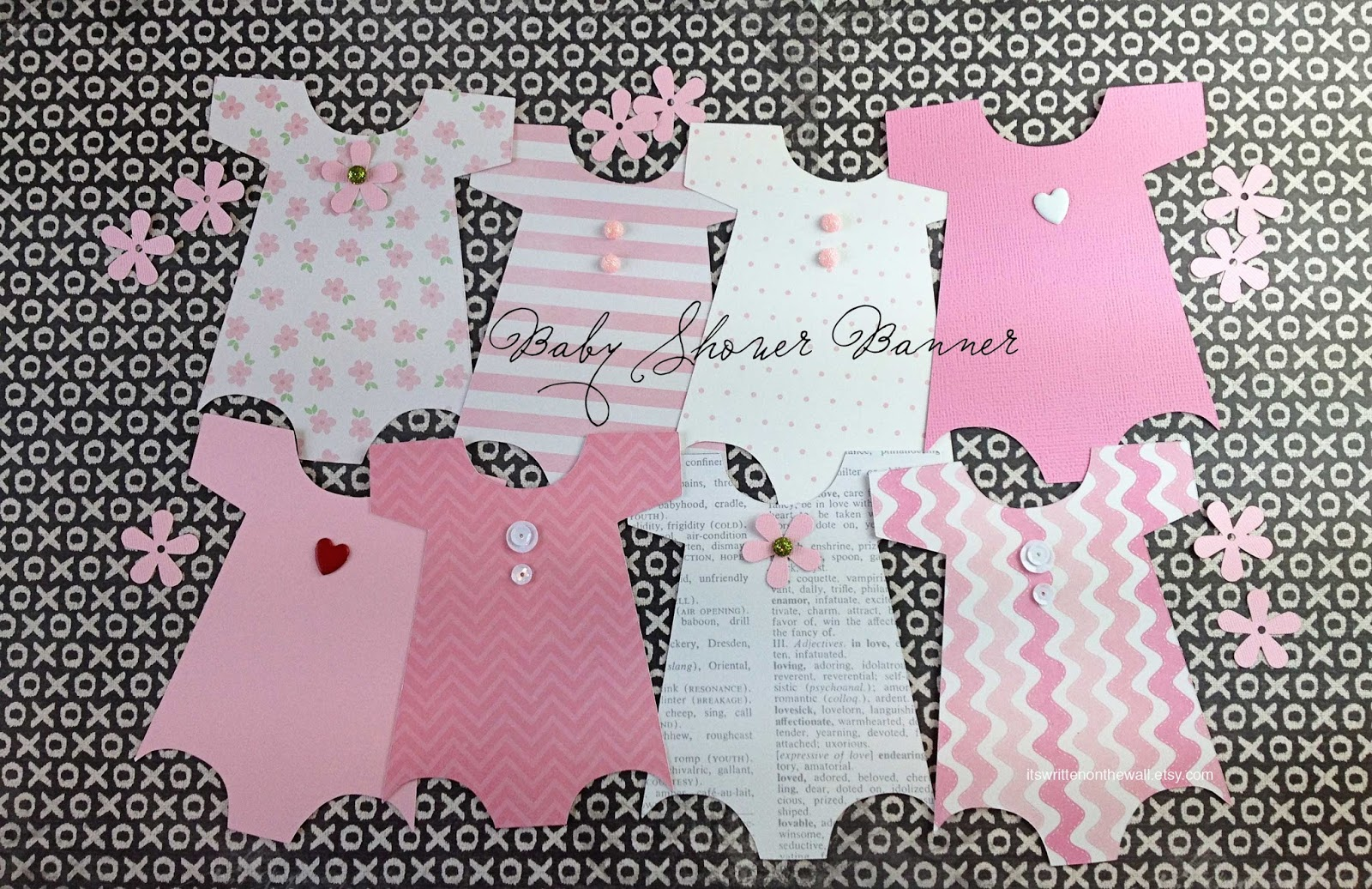 Itu0027s Written On The Wall: Looking For Cute Baby Shower Decorations? See Our  Onesies Banners For Both Boys And Girls!