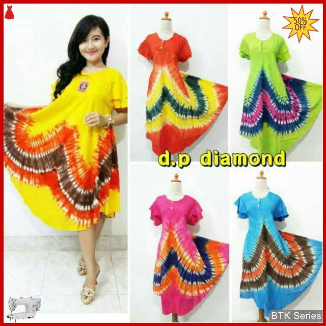BTK016 Baju Daster Payung Diamond Dress Batik Murah BMGShop