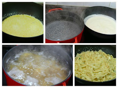 Pasta Alfredo, elaboración
