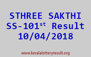 STHREE SAKTHI Lottery SS 101 Result 10-04-2018