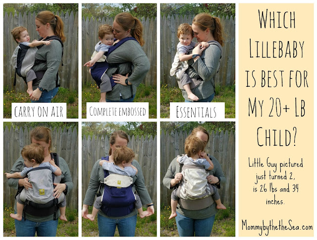 Which Lillebaby carrier for my 20 lb toddler?