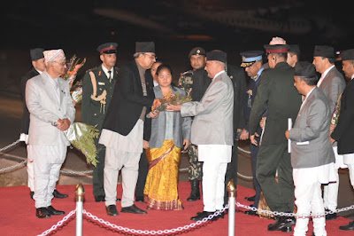 pm oli returned from India after week long visit