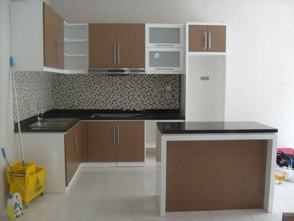 Kreasi kitchen set hpl glossy yang menarik