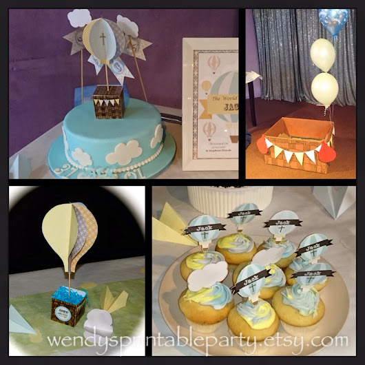 Jack's Hot Air Balloon Themed Christening Party