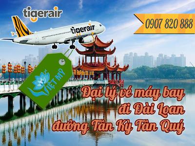 Đại lý vé máy bay đi Đài Loan đường Tân Kỳ Tân Quý