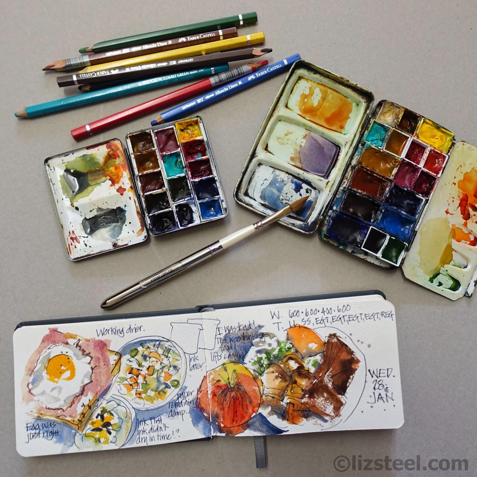 Watercolor Travel Palette Book