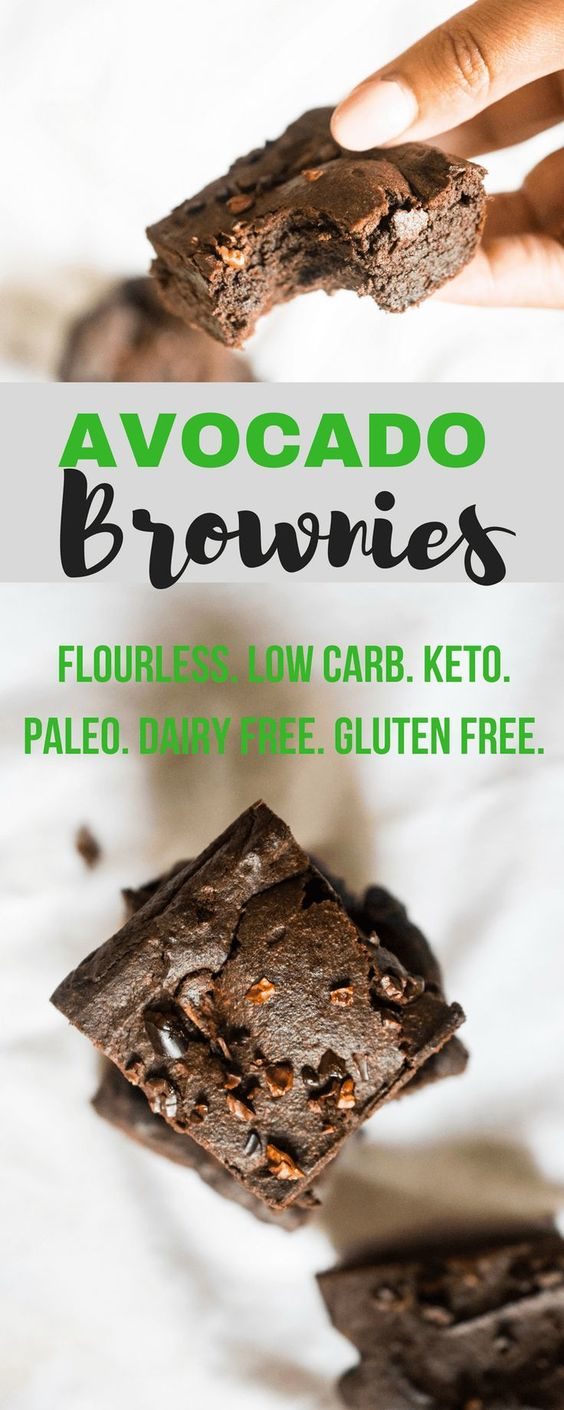 Flourless Avocado Brownies