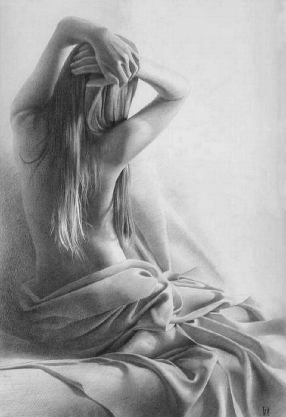 Pintura Moderna Y Fotografía Artística Dibujos De Mujer Lápiz