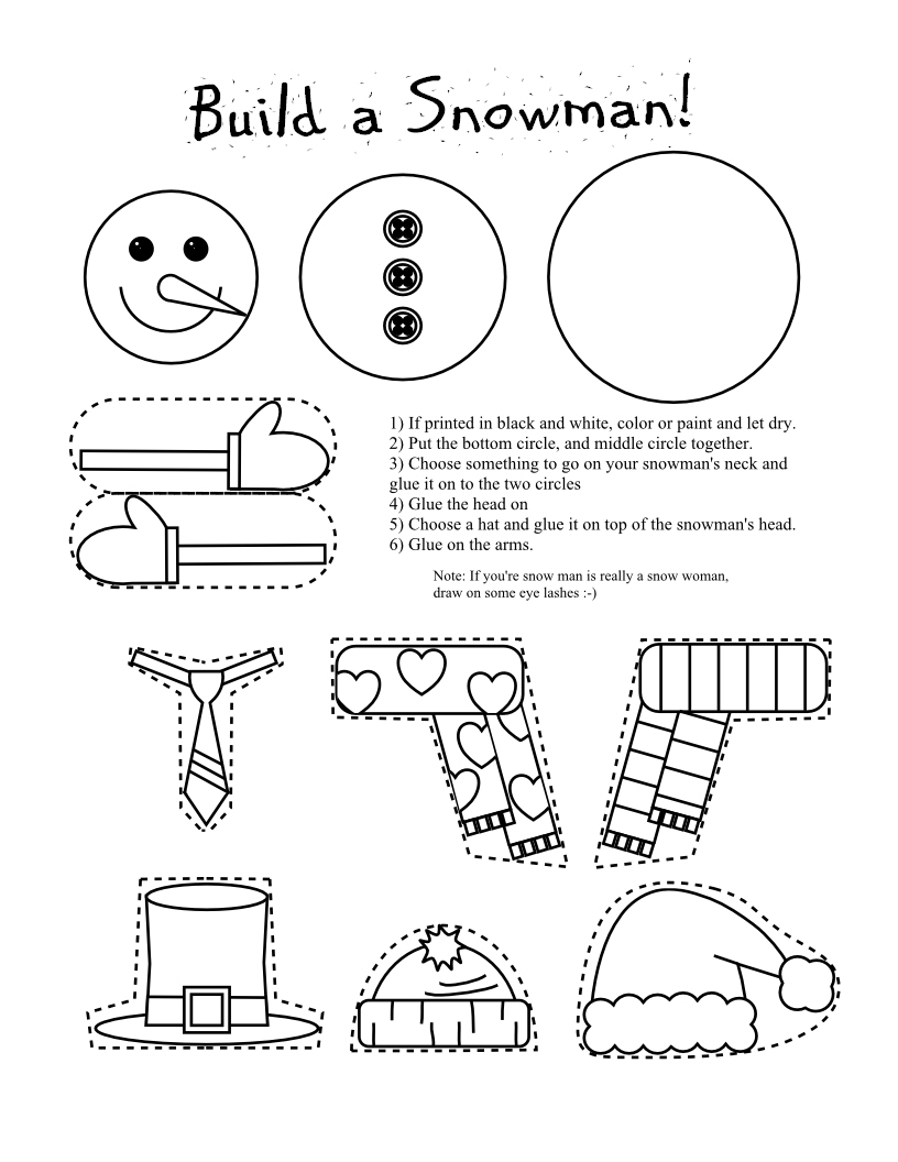 Smarty Pants Fun Printables: Printable Snowman and Snow