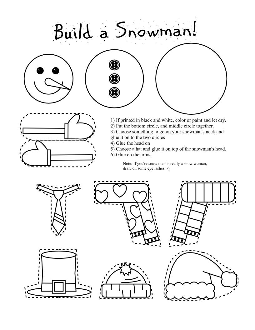 Smarty Pants Fun Printables: Printable Snowman and Snow ...