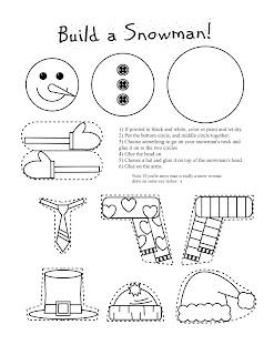 Smarty Pants Fun Printables: Printable Snowman and Snow