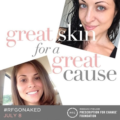 Go Naked (from the neck up!) for a Good Cause! #RFGoNaked Day #nomakeup