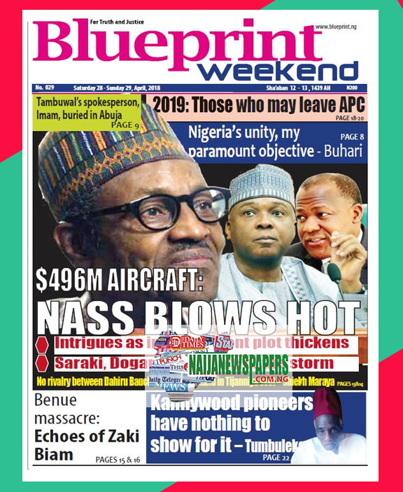 Nigeria newspapers todays the blue print newspaper headlines 28 below are the headlines found on the blueprint online newspaper for today saturday 28 april 2018 malvernweather Images