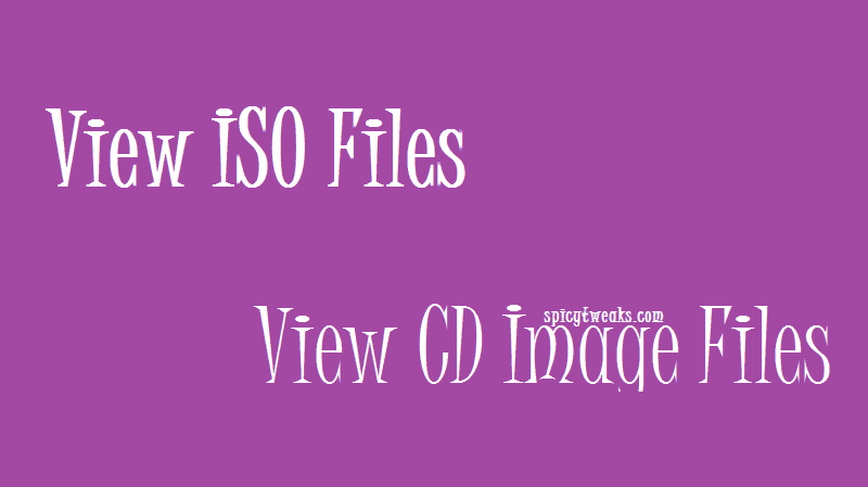 Open ISO and CD Image Files