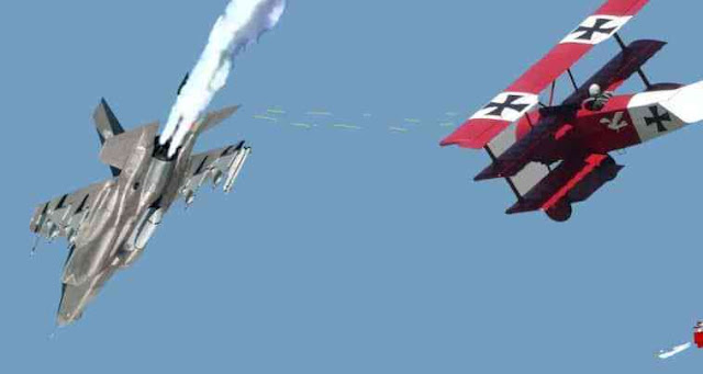 ΣΟΚ: Ηττήθηκε F-35A σε αερομαχία από Fokker Triplane