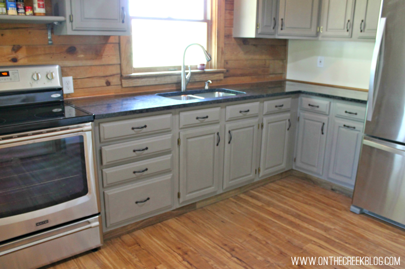 Maytag electric stove in my custom kitchen!
