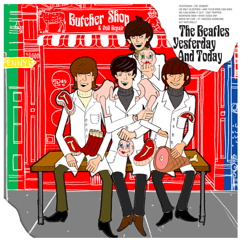 The Beatles Yesterday And Today The Butcher Album Cover John