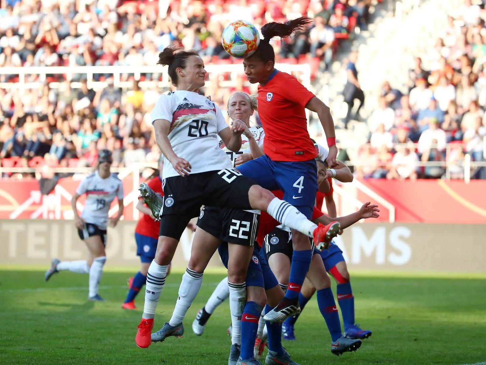 Alemania y Chile en partido amistoso femenino, 30 de mayo de 2019