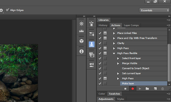 Make layer step added to the High Pass flexible action