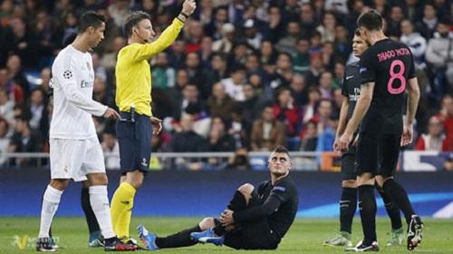 Verratti đã vắng mặt nhiều trận thi đấu do chấn thương