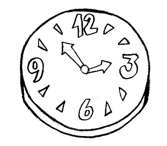 Desenho De Relógio Para Imprimir E Pintar