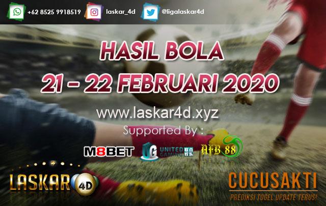 HASIL BOLA JITU TANGGAL 21 – 22 FEBRUARI 2020