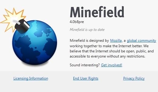 Mozilla Minefield, Browser Tercepat di Bumi