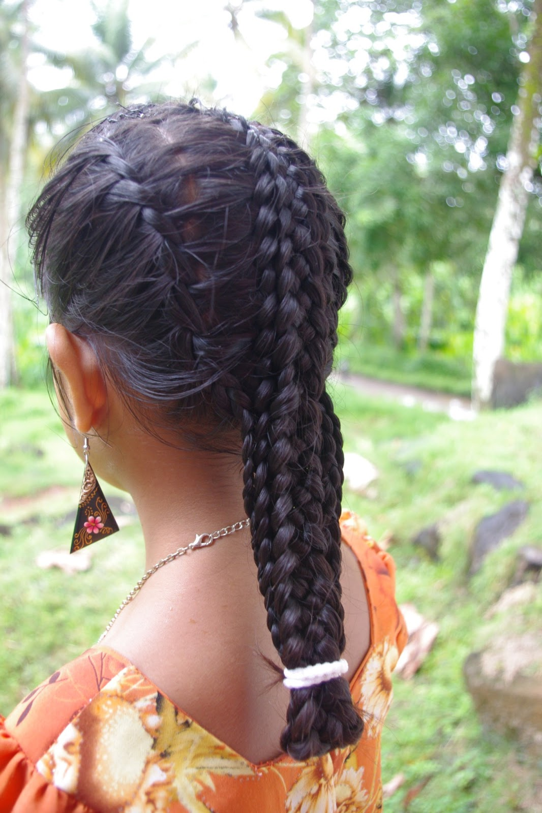 Micronesian Girl Basket Weave French Braids New
