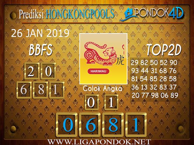Prediksi Togel HONGKONG PONDOK4D 26 JANUARI 2019
