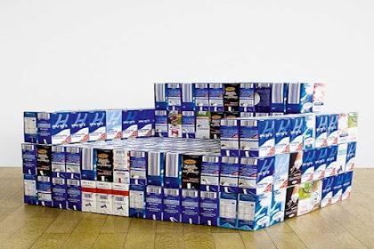 Cara Memanfaatkan Kotak Susu Bekas Menjadi Kursi Anak