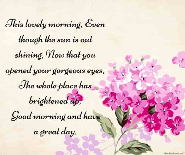 have a great day gorgeous sms for her