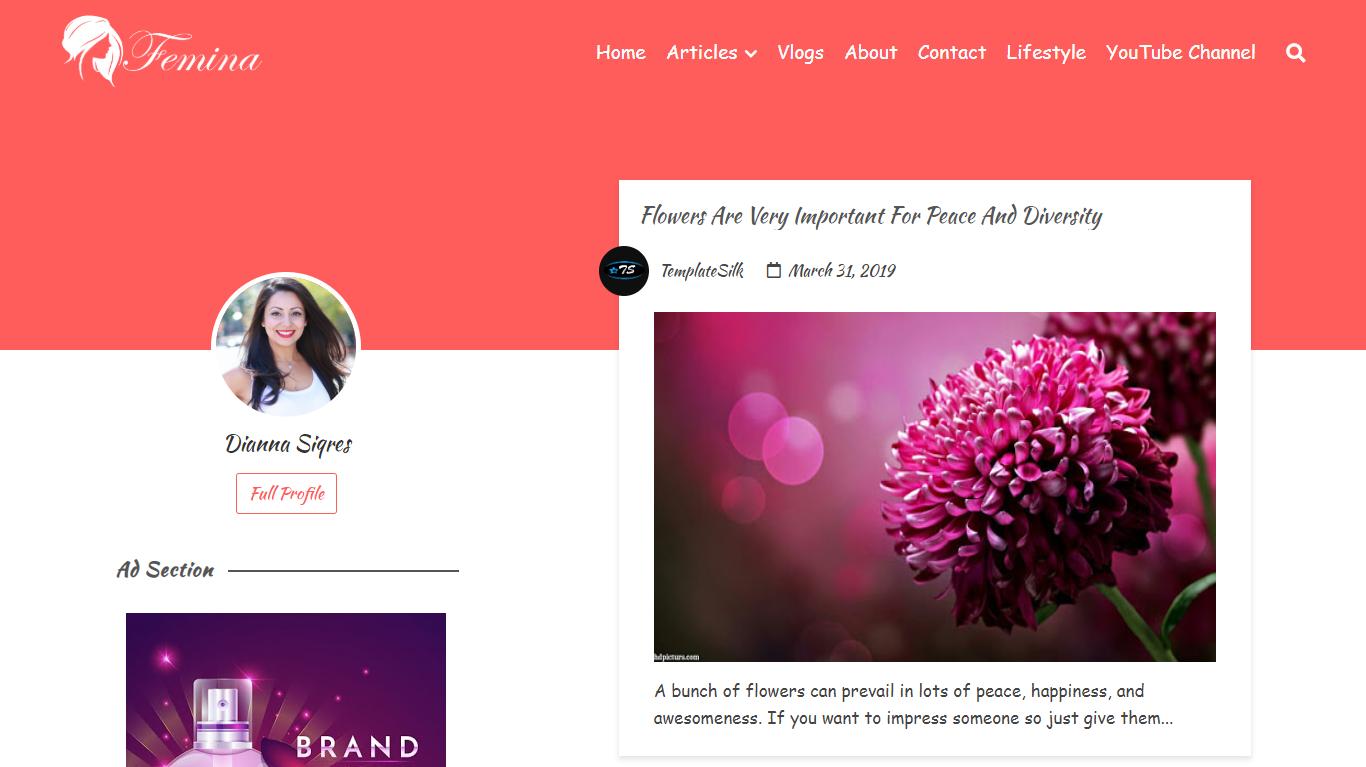 Femina Responsive Blogger Theme