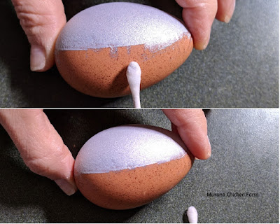Easily clean up food spray from eggs.