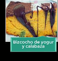 BIZCOCHO DE YOGUR Y CALABAZA