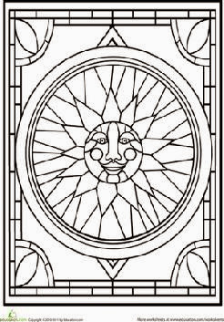 Church Stained Glass Patterns Coloring Pages Coloring Pages
