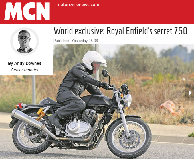 Possible new Royal Enfield twin on the road.