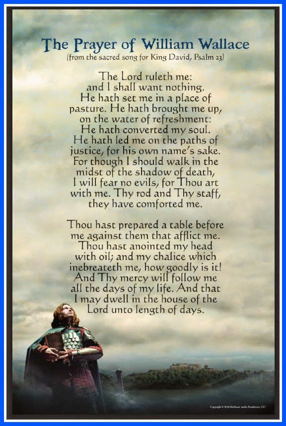Prayer of William Wallace (Psalm 23)