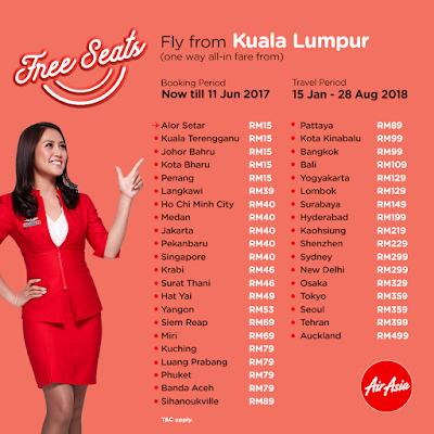 AirAsia Free Seats 2018 Promotion