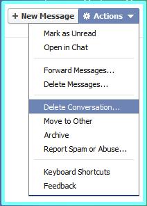 Delete Conversation Facebook