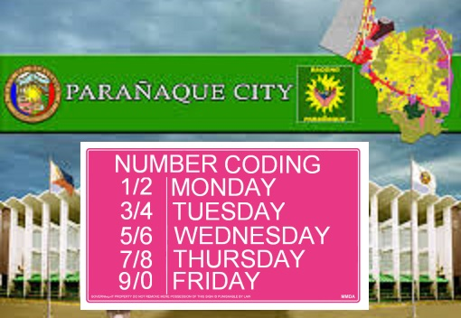 paranaque number coding