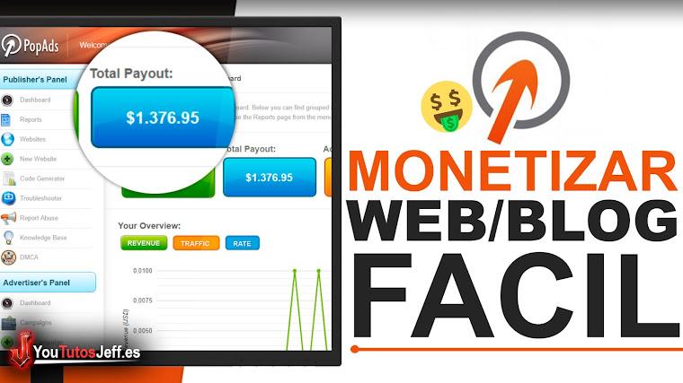 Como Ganar Dinero con Mi Pagina Web o Blog + Comprobante de Pago - PopAds