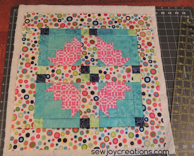 pillow front before quilting
