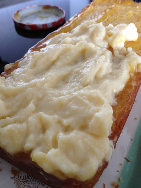 quatre-quarts, gâteau, crème pâtissière, maracujas, vanille