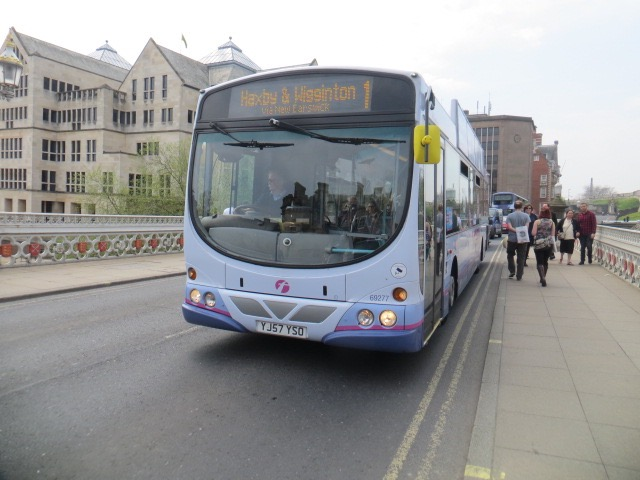 First York 69277 Heading For York City Centre On Service 1 All P Os Were In This Set Were Taken On 7th May 2016